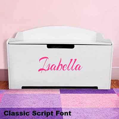 Personalized Dibsies Modern Expressions Toy Box - Girls